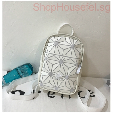 Adidas Women Casual Travel Double Shoulder Bag 3D Issey Miyake Mini Backpack