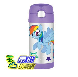 [美國直購 現貨] Thermos 兒童保溫水壺 Funtainer Bottle, 12-Ounce, My Little Pony F4014MP6M 彩虹小馬_TB4