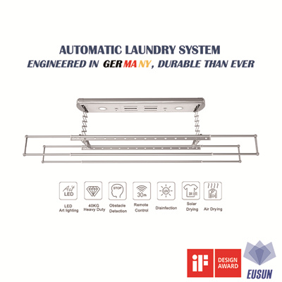 ★Germany Quality★Automatic Laundry Rack System★Free Installation★2 Years Warranty★