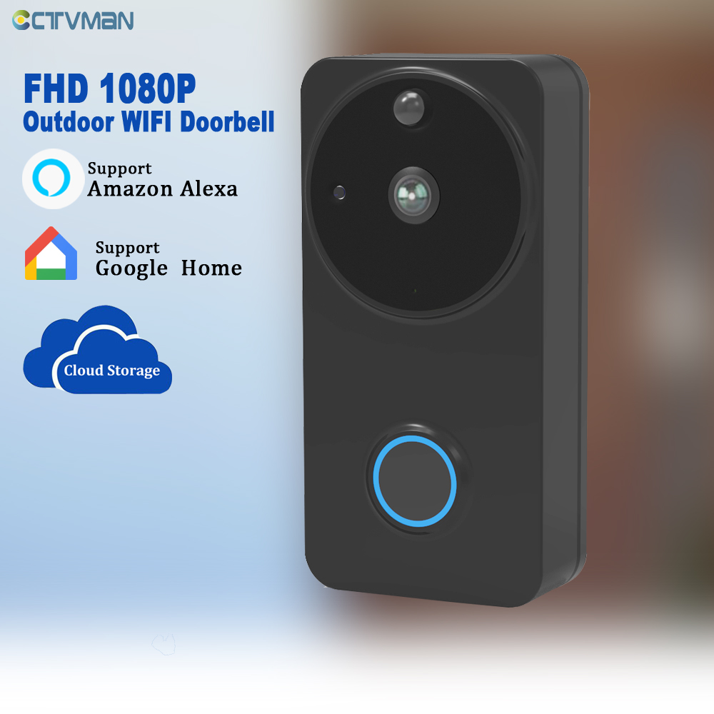 CTVMAN PIR Doorphone Camera Battery Wireless Doorbell with Camera Wifi Door Bell Intercom HD 1080P Doors Intercoms