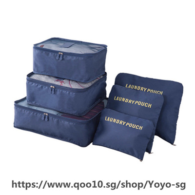 6PCS/Set Travel Case Clothes Tidy Storage Bag Box Luggage Suitcase Pouch Bra Cosmetics Underwear Wat
