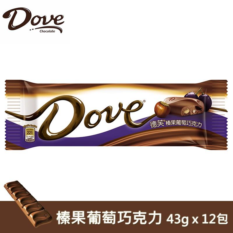 Dove德芙 榛果葡萄巧克力 43gX12包