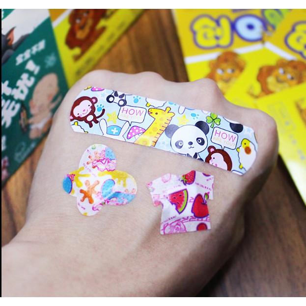 小姐姐的雜貨店-200片卡通創可貼 防水ok繃可愛迷你韓國兒童透氣創口貼