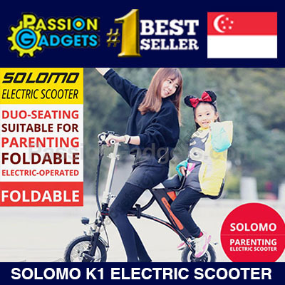 NEW! Solomo K1 Electric Scooter / Dual Seat / Parenting Foldable/E-bike/Ebike fiido dyu tempo