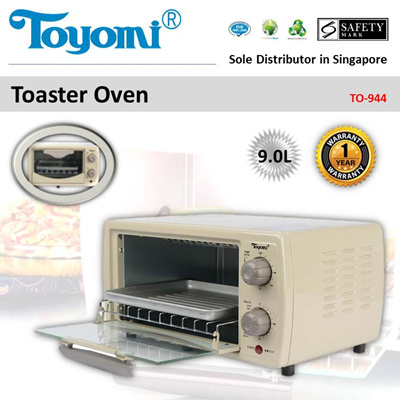 TOYOMI Toaster Oven 9.0L [Model: TO944] - Official TOYOMI Warranty Set. 1 Year Warranty.