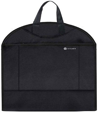 DELSEY Paris Delsey Luggage Helium Lightweight Garment Sleeve Trolley, Black, 42 Inch