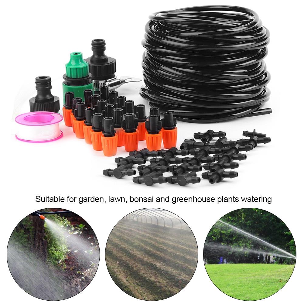 花園套裝微型溫室系統15M軟管灌溉自動澆水設備