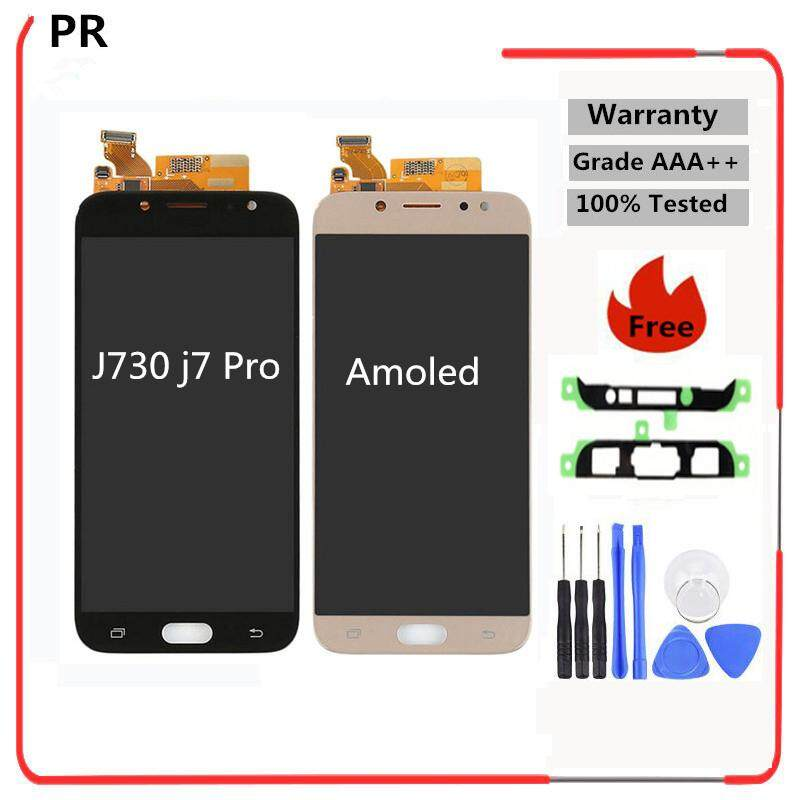 """Amoled For SAMSUNG GALAXY J7 2017 LCD J7 Pro J730 Display J730F Touch Screen Digitizer Panel Replacement For 5.5"""" J7 Screen LCD - intl"""