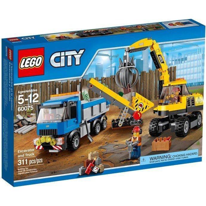 【台中翔智積木】LEGO 樂高 城市系列 60075 挖土機和卡車