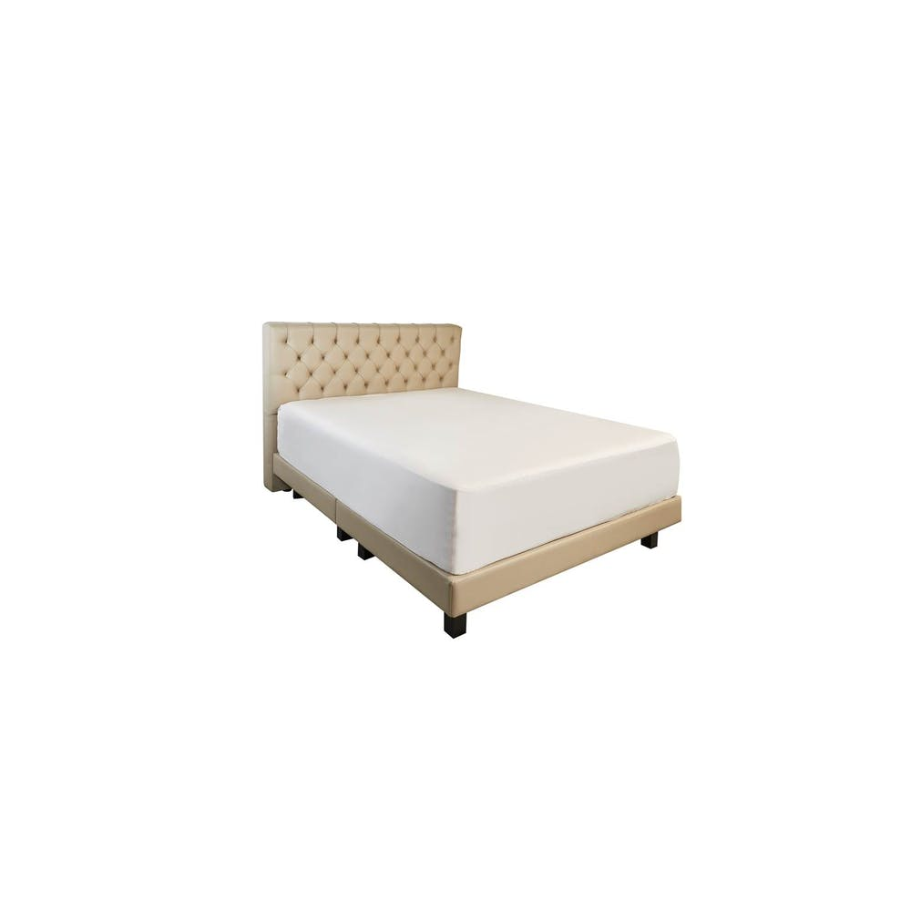 Opal Queen Size  Bed Frame - PVC Upholstered