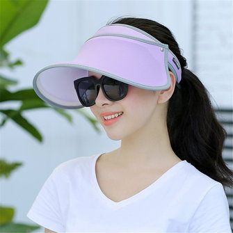 Women Summer Travel UV-Protection Visor Hat
