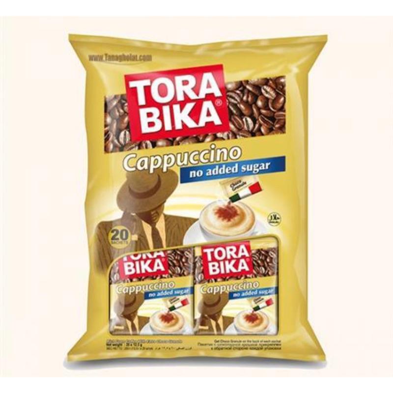 TORA BIKA卡布奇諾咖啡(二合一)(12.25g/包,20包/袋)+巧克力味粉5公克(0.25公克/20包入)
