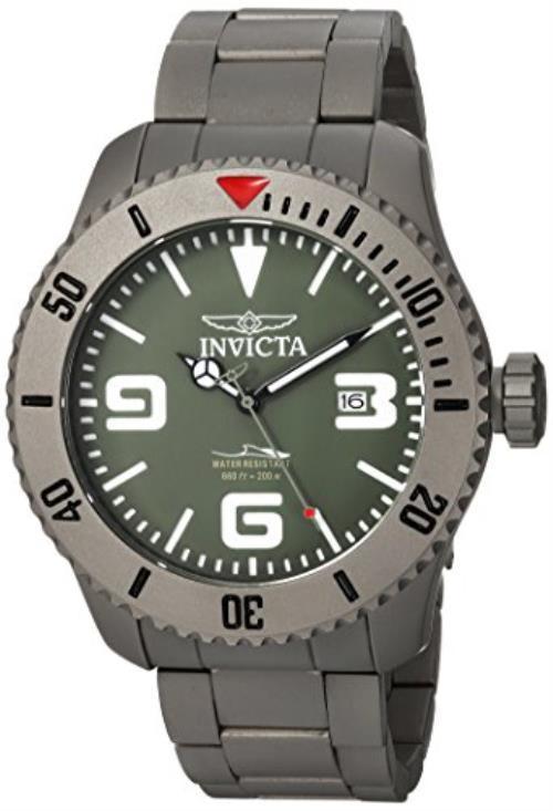 Invicta Men's 'Pro Diver' Automatic Titanium Diving Watch, Color:Silver-Toned (Model: 23126)