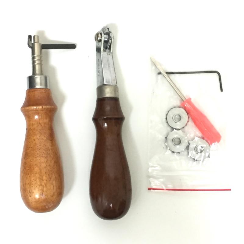 [二手]皮藝工具組-間距輪及線引器(不拆賣)