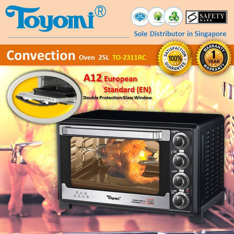 TOYOMI Electric Convection Oven 25.0L - TO 2311RC