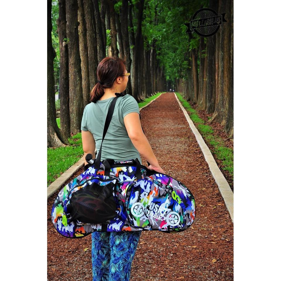 彩色迷彩滑步車袋 牛津布加厚版攜車袋  STRIDER /BIXB/NOWELL/KOKUA