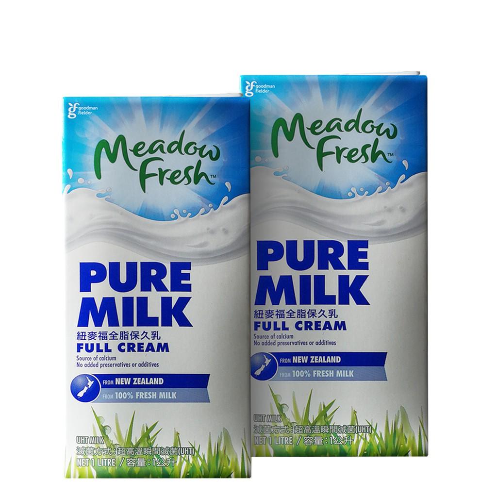 紐西蘭 Meadow Fresh 全脂保久乳 1000ML 紐麥福 牛乳 生乳 第一品牌 咖啡 奶泡綿密 口感佳