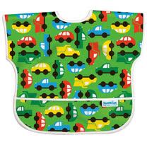 美國Bumkins防水兒童圍兜(短袖)-彩色車車 BKU227
