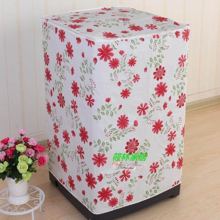 Peva Waterproof Sun-resistant Washing Machine Cover Haier Panasonic Sanyo xi yi ji tao Roller Fully Automatic