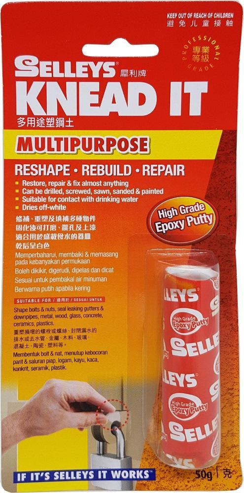 Selleys Knead It Multipurpose High Grade Epoxy Putty 50g