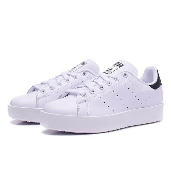 "Original Adidas Stan Smith Bold \\\""White/Black\\\""-S75213"
