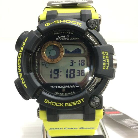G-SHOCK G打擊FROGMAN蛙人手錶GWF-D1000JCG-9JR CASIO卡西歐海上保安廳海上保安制度創立70周年協作雙姓名電波太陽能數碼的罕見的罕見的未使用的黑色黄色人三國丘商店371880 RM3465 NEXT51