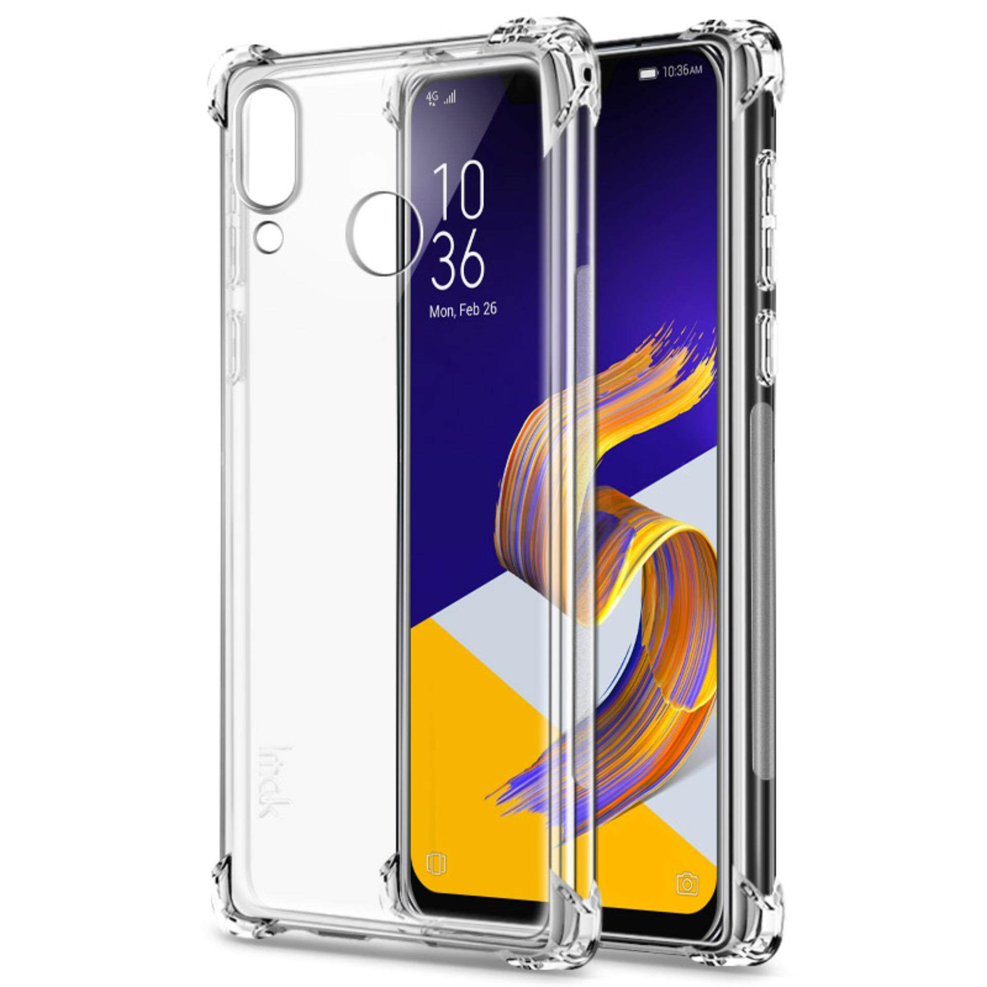 ASUS Zenfone 5 ZE620KL / 5Z ZS620KL Case with Screen Protector, IMAK Transparent Thin Nature Slim Crystal Clear Shock-resistant Shockproof Bumper Soft TPU Protective Shell Back Cover Phone Case Casing for ASUS Zenfone 5 ZE620KL / 5Z ZS620KL