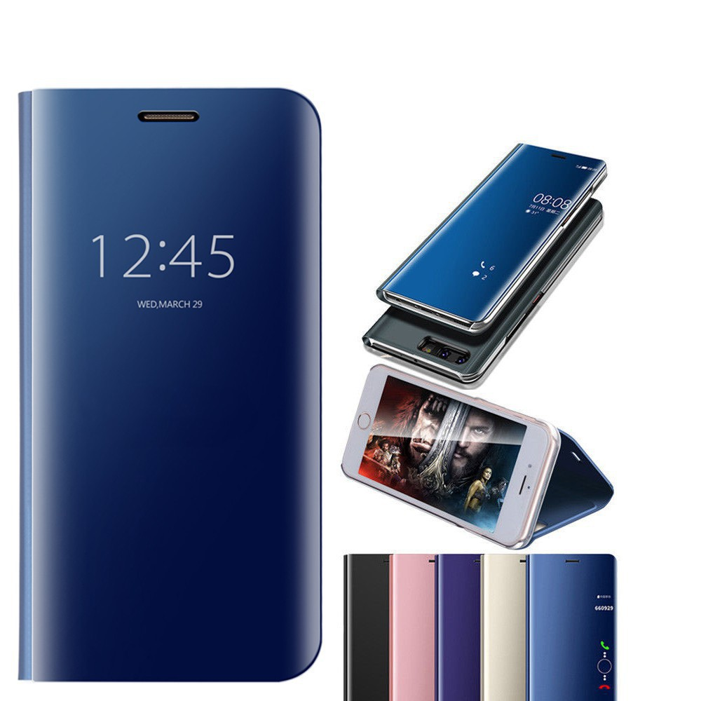 Huawei Honor V10 Honor 8 Lite 9 Lite Nova 2i Flip Phone Case Stand Mirror Cover