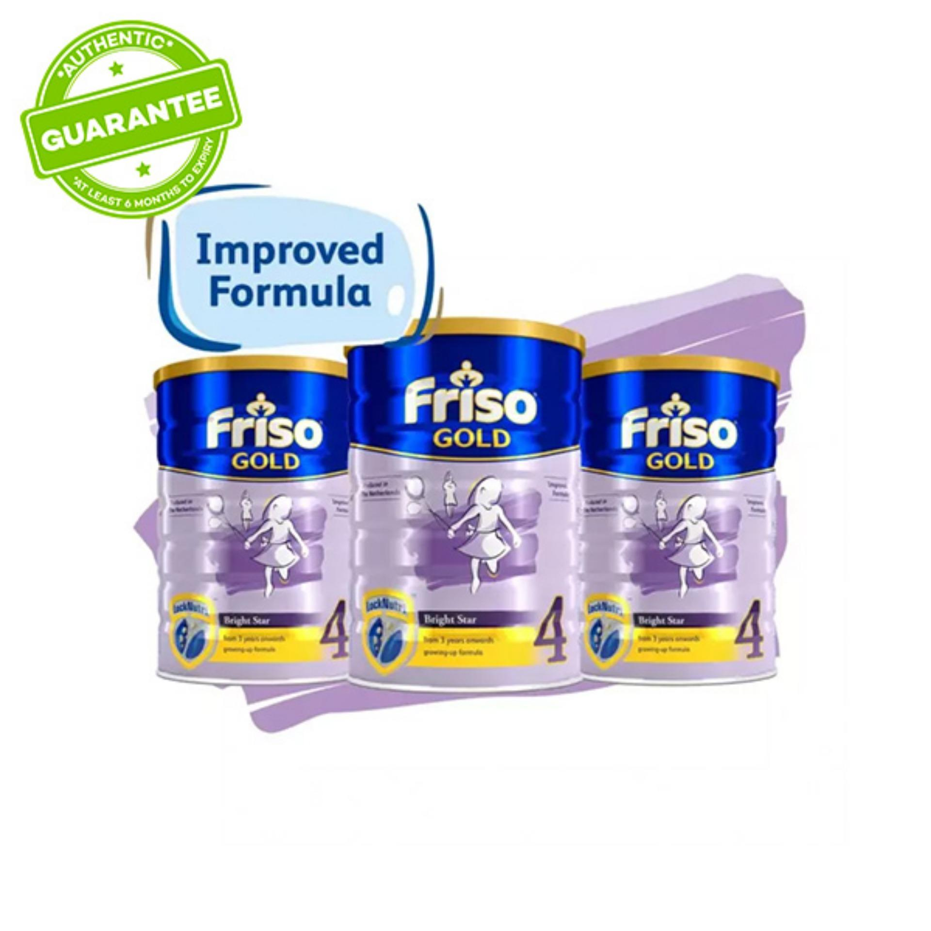 Friso Gold 4 Growing Up Milk 1.8kg x 3 tins