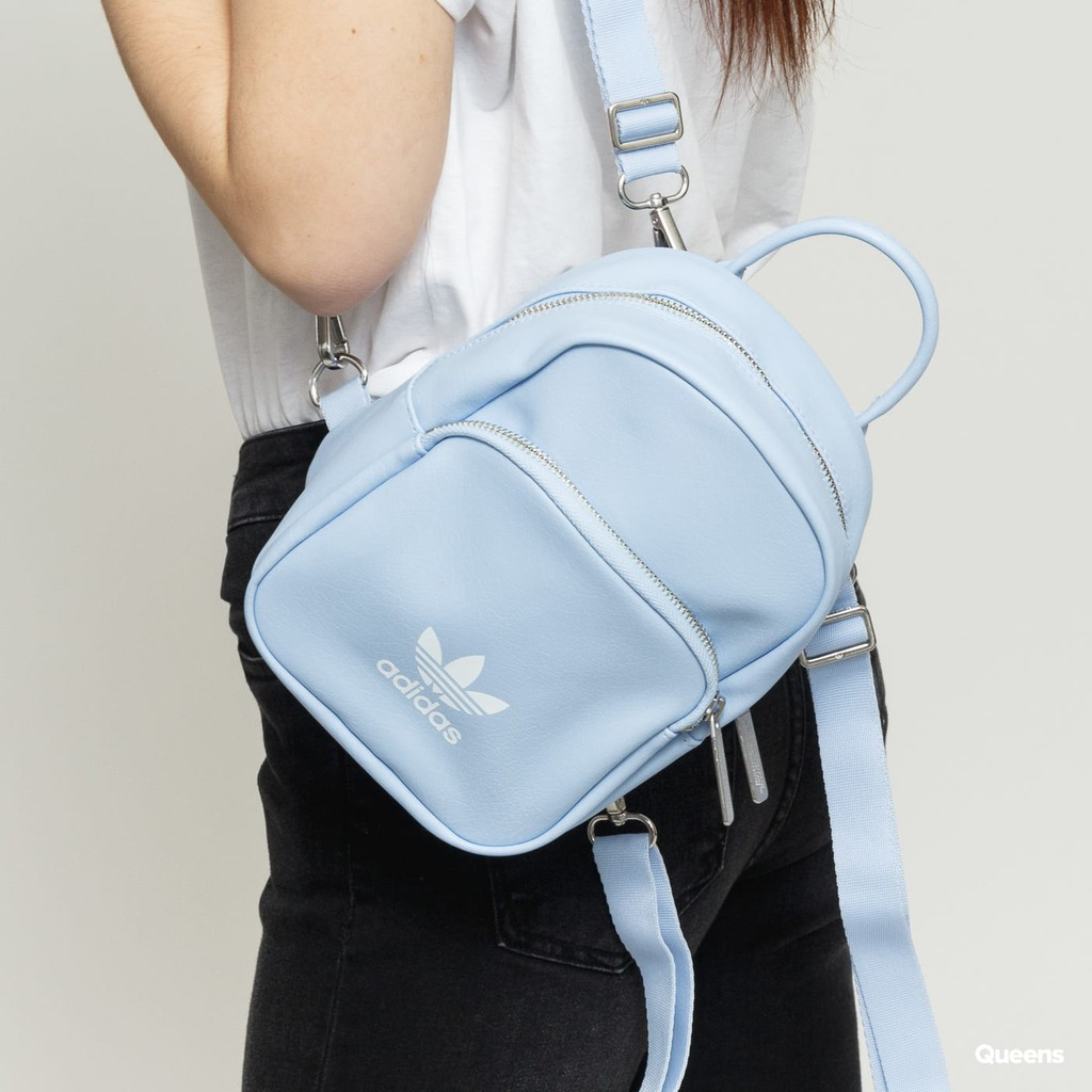 DU6810 ADIDAS ORIGINALS CLASSIC MINI BACKPACK 水藍色 皮革 小包 後背包