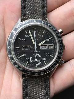 Vintage Citizen Speedy 67-9313 Automatic Chronograph Watch