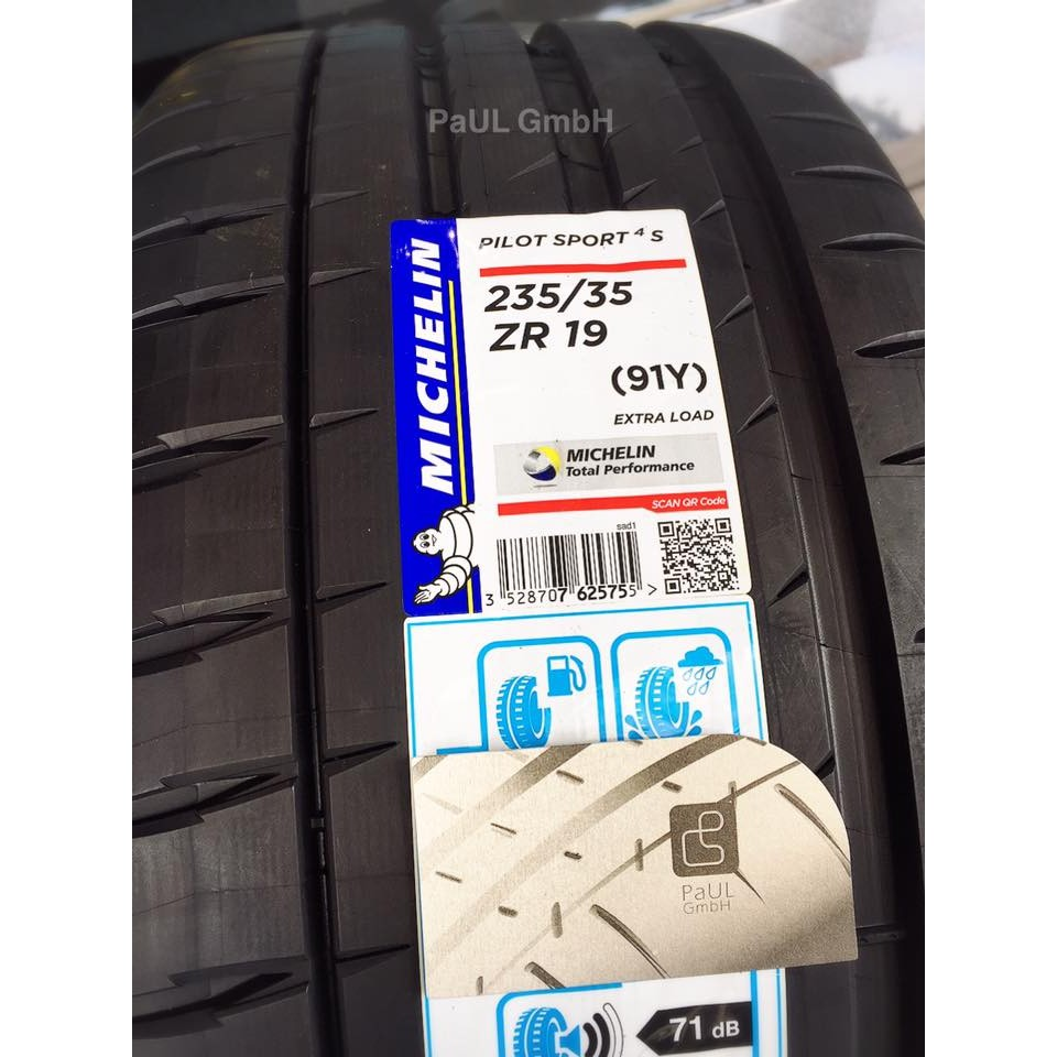 [PaULGmbH] 米其林輪胎 PS4S (PSS後繼胎) - 235/35/19 [2017] [法國] [現貨]