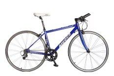 Aleoca Hybrid Bicycle Cavallo Breed - Blue/White + Free Hand Pump