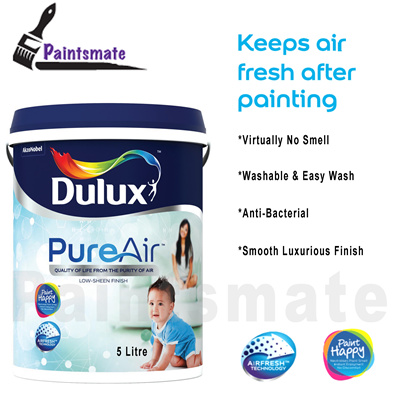 *Dulux* *Paint* 5L *PureAir* *Wash and Wear* *Pentalite* *Ambiance All* Anti-bacteria* *Odourless* *Washable*