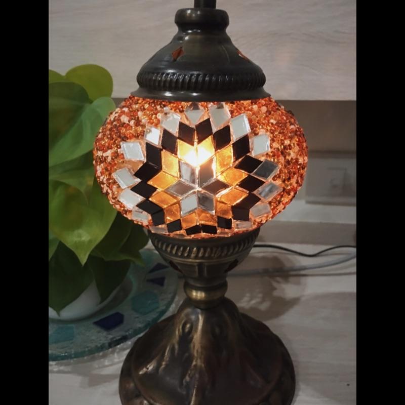 土耳其手工彩繪馬賽克玻璃桌燈