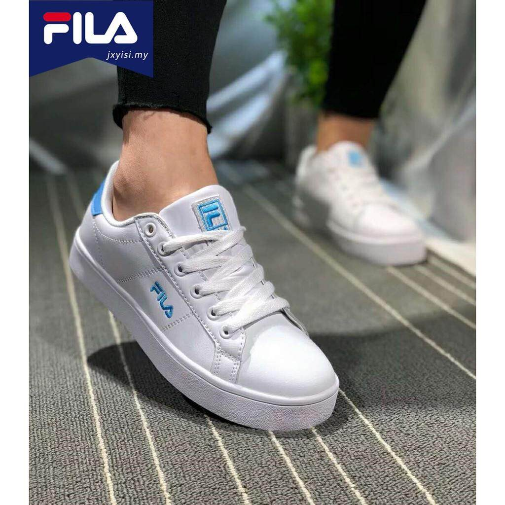 Comfortable FILA men's sneakers Women's white pink leather casual shoes unisex