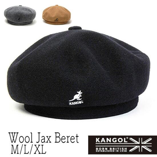 """帽子""""KANGOL(罐子球門)""""羊毛貝雷帽(Wool Jax Beret)[大的尺寸的帽子螞蟻] Kawabuchi Hats Ltd."""