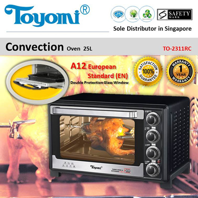 TOYOMI Electric Convection Oven 25.0L [Model: TO 2311RC] - Official TOYOMI 1 year Warranty.