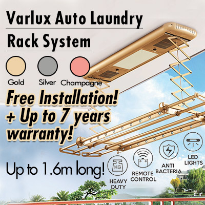 Auto Laundry Rack System w Remote Control /Light /Heater /Fan /UV *FREE INSTALL and 7 YEARS WARRANTY