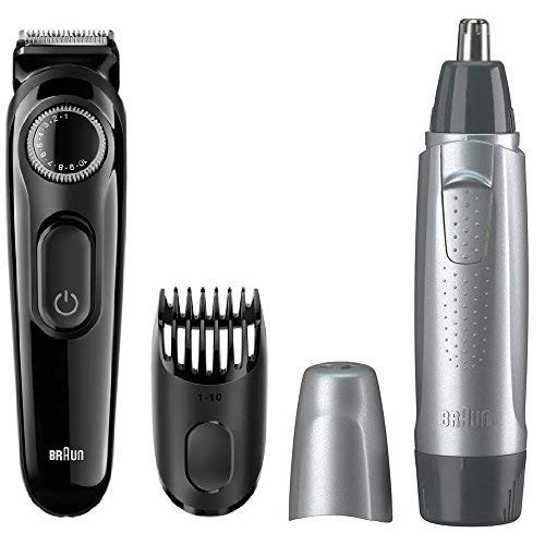 100%正品    Braun 德國百靈 BT3020 調節刮鬍刀 修鬍刀+鼻毛刀 修鼻毛器 耳毛 電剪 國際電壓 預購