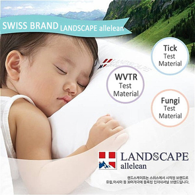 【Switzerland Landscape allelean】Waterproof Mattress Protector Cover Latex Protective★Allergyfree Protect Dust mites Tick Fungi★King Queen Single Super Pillow cover