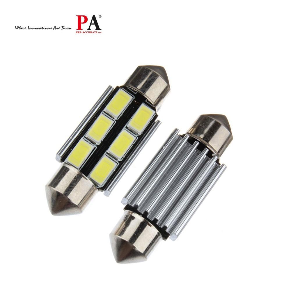 【PA LED】雙尖 36MM 白光 6晶 5730 SMD LED 室內燈 腳踏燈 牌照燈 閱讀燈 行李箱燈 迎賓燈