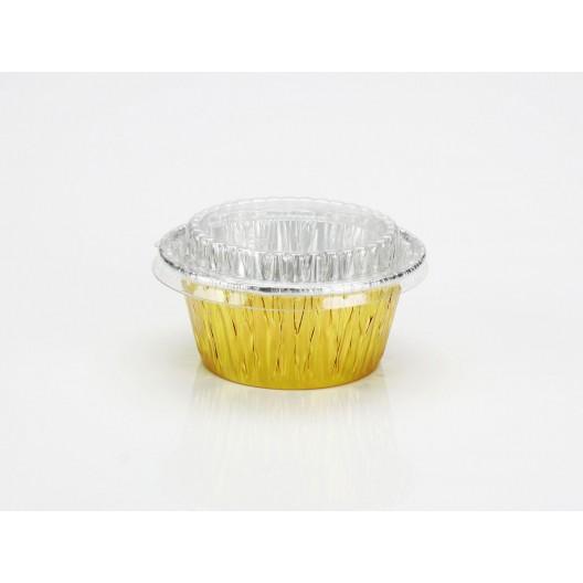 【嚴選SHOP】附蓋鋁箔 30入 金色 烤布丁杯 【H115G-A】 小布丁鋁杯 鋁箔容器 烘烤盒 蛋糕模 蛋塔模