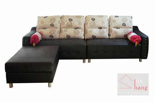 【 尚品傢俱】798-08吉默爾 L型半牛皮沙發~可訂色