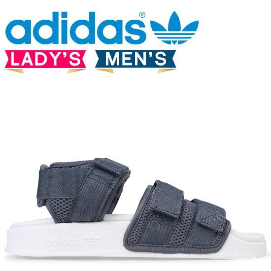 adidas Originals阿迪萊塔愛迪達涼鞋ADILETTE SANDAL 2.0 W女士人CQ2672灰色原始物[預訂商品3/20左右打算進貨新入貨物] Sugar Online Shop