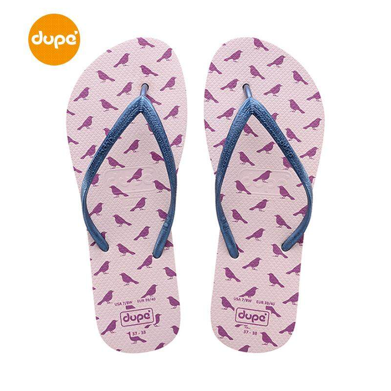 Dupe Brazil New Style Rubber Flip-flops Female Summer Anti-slip Fashion Flat Beach Sandals