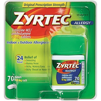 【Direct from USA】 Zyrtec Allergy Relief Tablets, 70 Count by Zyrtec