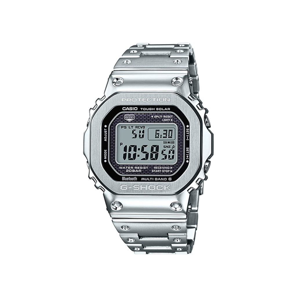 Casio G-shock GMW-B5000D-1 BLUETOOTH STEEL SILVER Original and Authentic