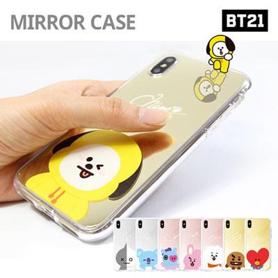 【BT21 x LINE FRIENDS】 BTS BangTan iPhone Galaxy Mirrior Case GIFT!