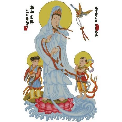 十字繡材料包 宗教 - 觀音大士 (6) (14CT小格)